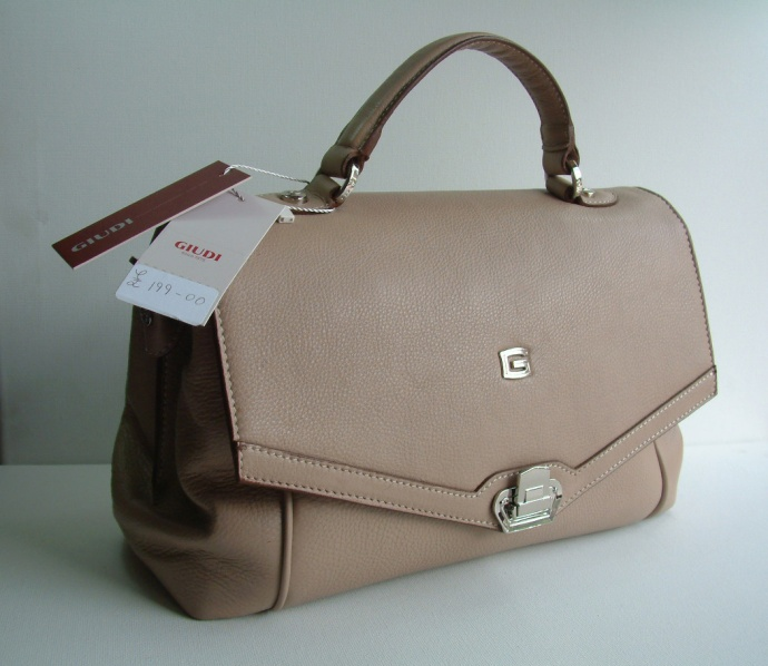 Giudi Italy Ladies Designer G5816 Full Leather Mini Satchel Light Brown