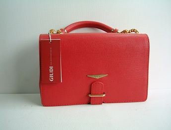 Giudi Italy Ladies Designer G5975 Red Full Leather Fixed Handle Clutch Handbag