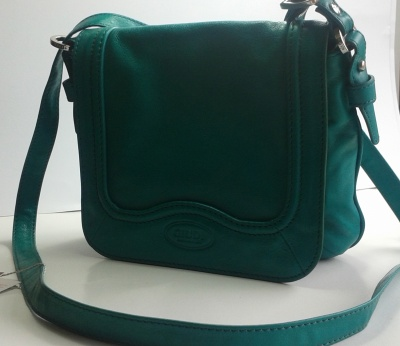 Giudi Italy Ladies Designer G5973 Full Leather Green Crossbody and Clutch Bag