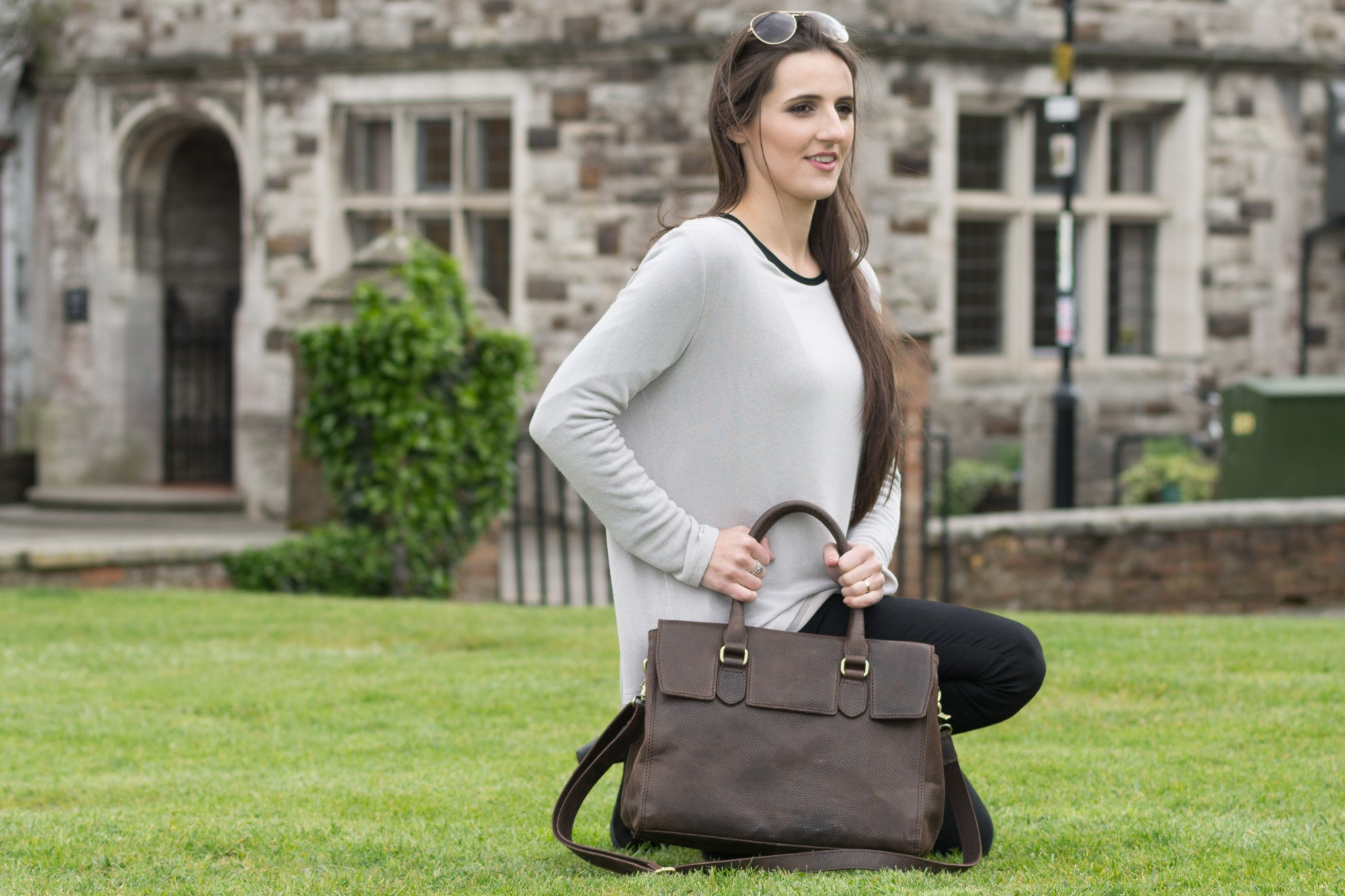 Bolla Frances BLACK- Twin Compartment Work Bag