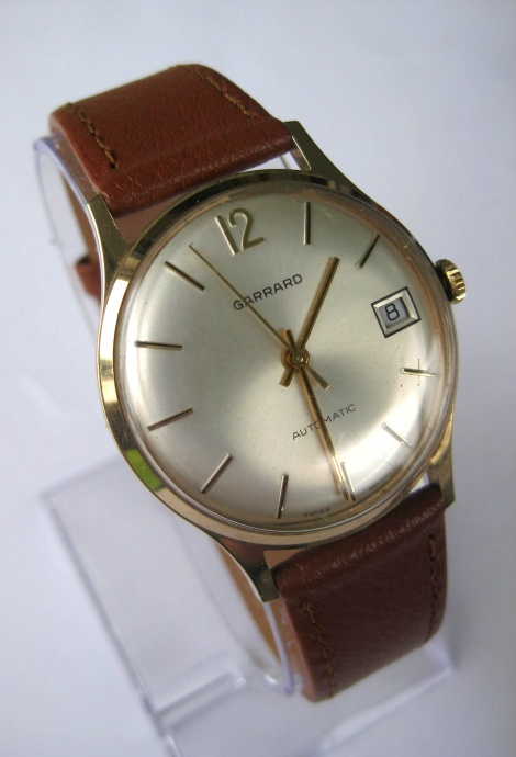 GARRARD 9ct Gold Vintage 1979 Automatic Gents wristwatch