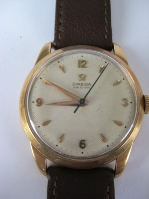 OMEGA Vintage 1952 18ct GOLD ''FAB SUISSE'' MANUAL WIND Gents Watch 283 Movement