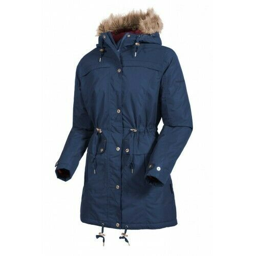 Target Dry Georgia Ladies Waterproof & Breathable 3/4 Length Parka INDIGO BLUE Size10