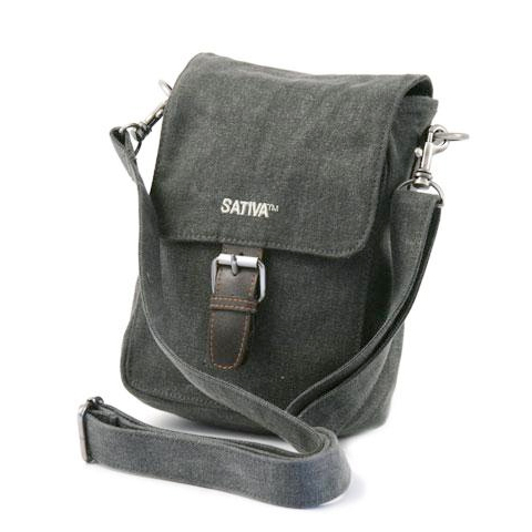 Sativa HEMP PS12 Organic Unisex Outdoor Multiuse Small Shoulder Bag Grey