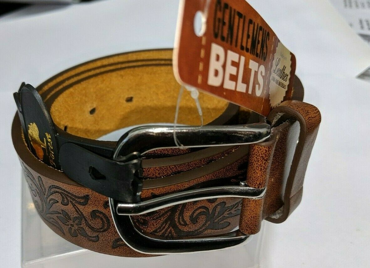Belts - Forest Belts Brown Mens Designer Patterned Belt