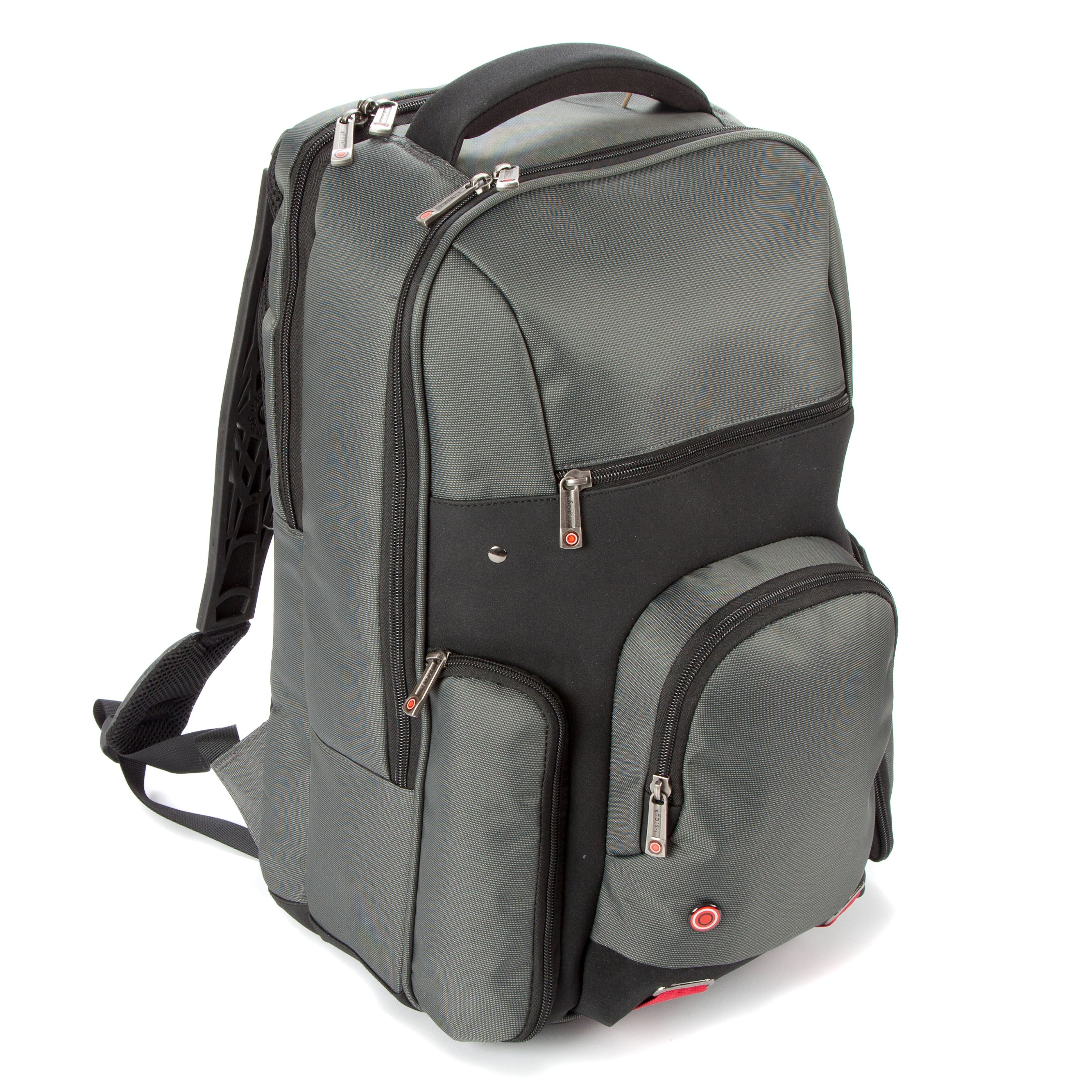 Falcon Bags 15'' Laptop Tablet Ergonomic Backpack Grey/Black