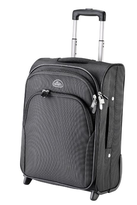 Falcon Bags Two Wheeled Polyester Cabin Case Fi1004 Black