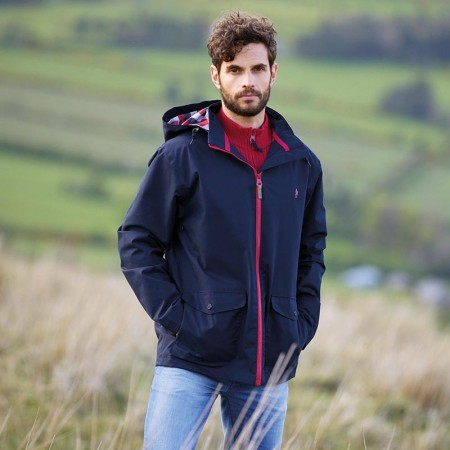 Mens Jacket - Jack Murphy PIERCE Waterproof Heritage Navy