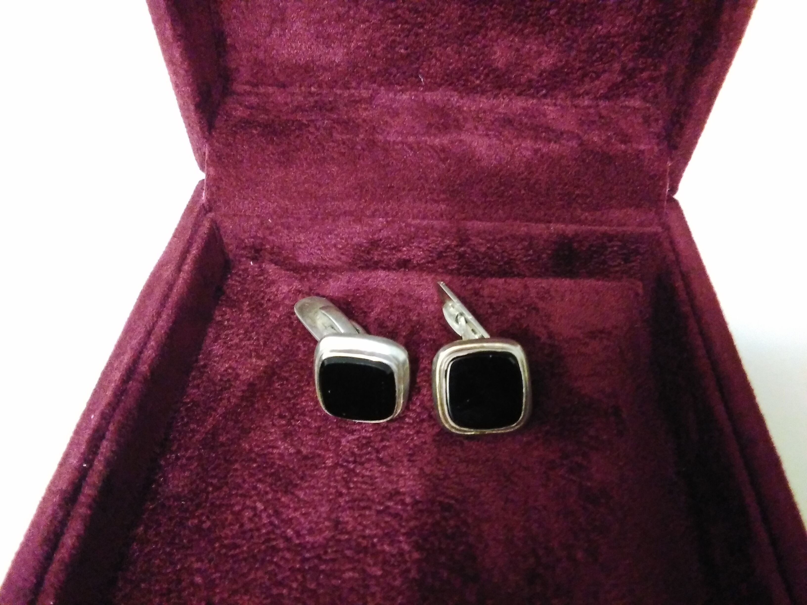 Silver Blackstone Cufflinks