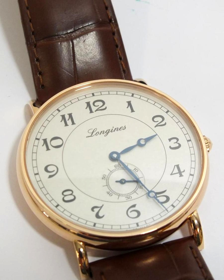 LONGINES Presence Heritage Gents Automatic 18ct Gold Watch