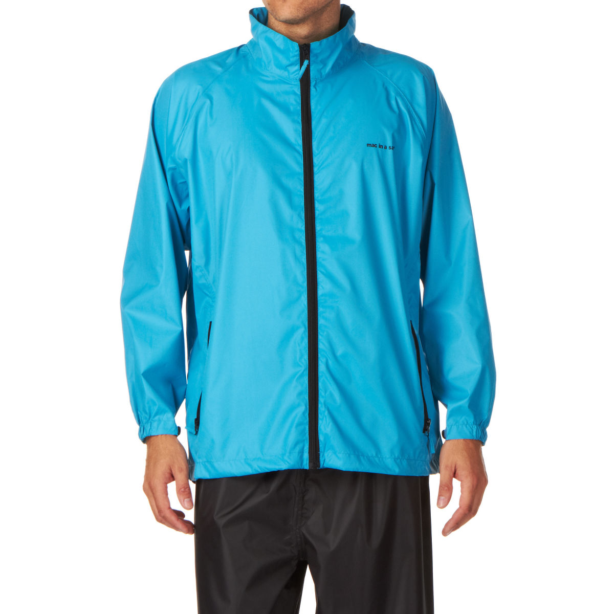 Mac in a Sac Unisex MIAS ORIGIN Highly Waterproof & Breathable Packaway Jacket BRIGHT BLUE