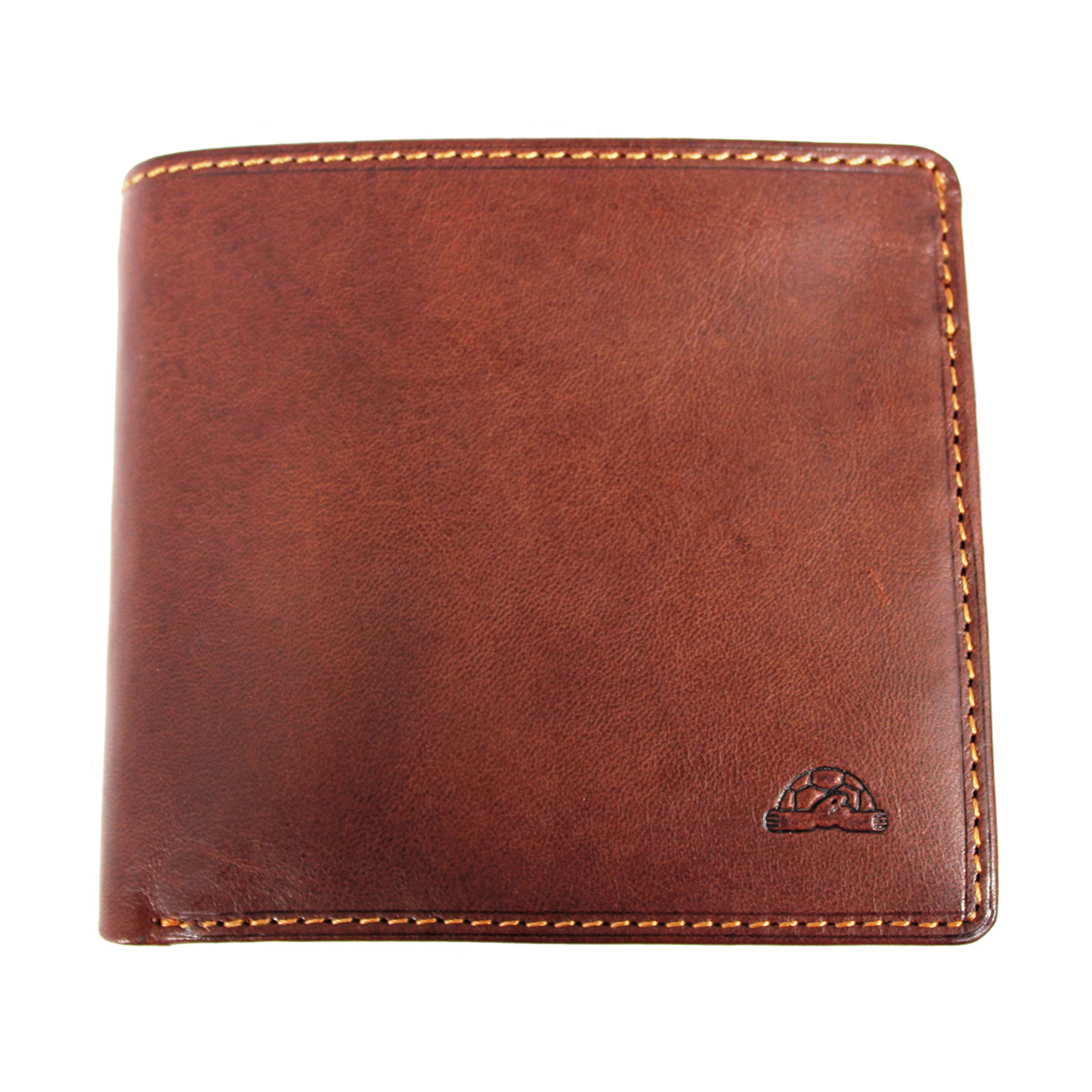 Tony Perotti Italian Leather Trifold Wallet BROWN