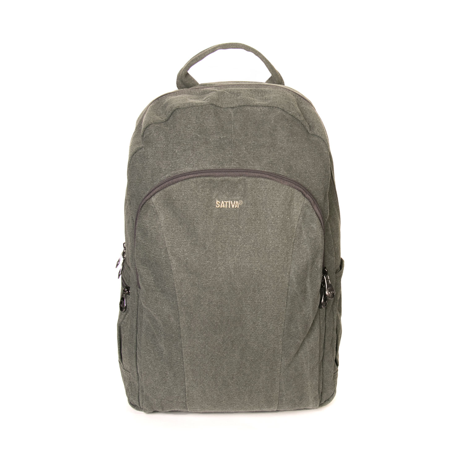Sativa HEMP S10100 Organic Unisex Large Outdoor Multiuse Laptop Tablet iPad Galaxy Backpack Khaki