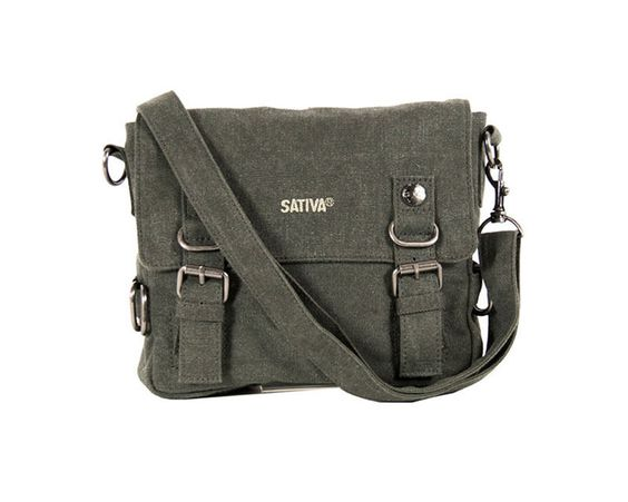 Sativa HEMP PS35 Organic Unisex Outdoor Multiuse Mini Satchel Khaki