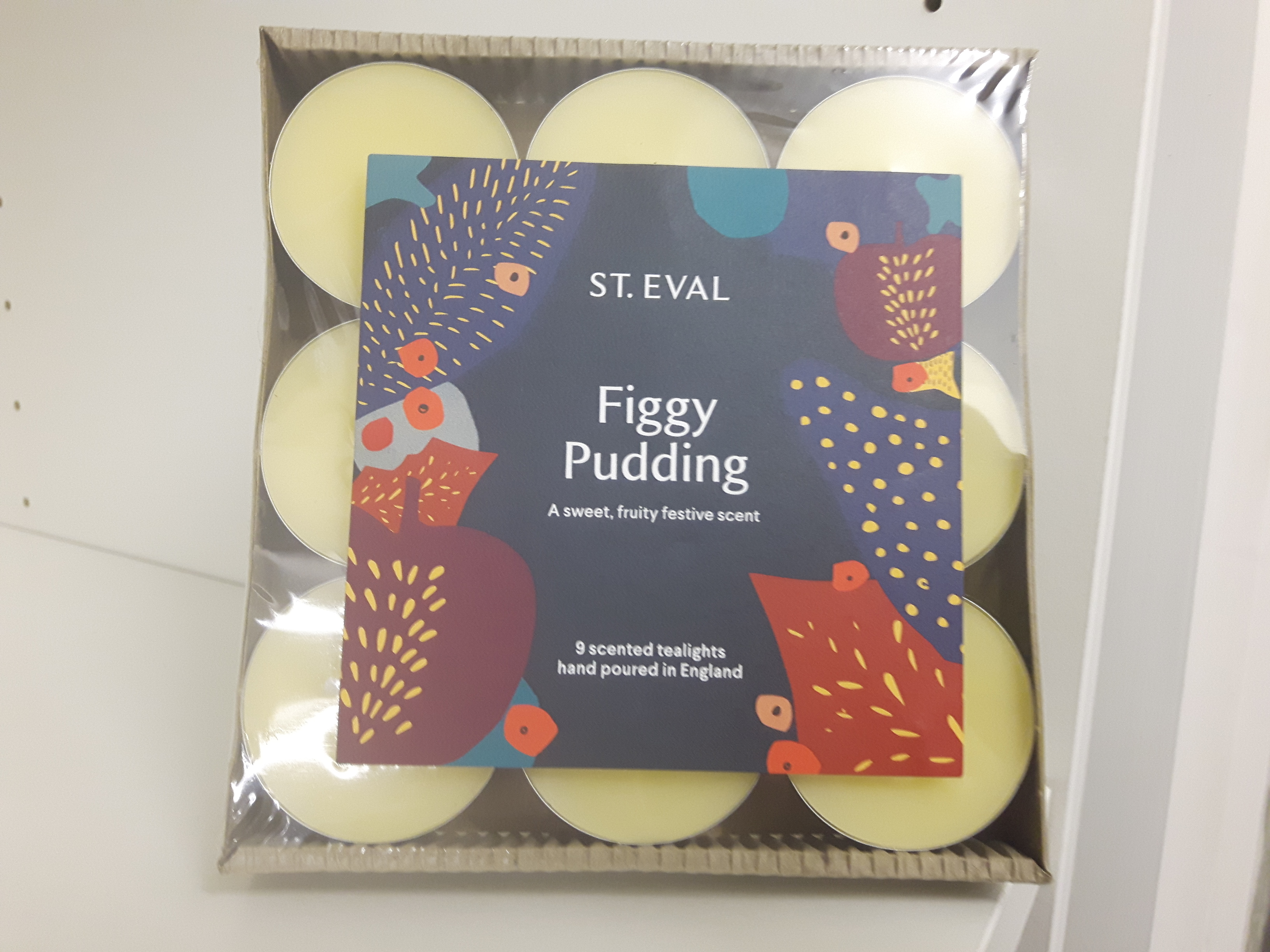 St Eval Packof9 Christmas Scented Figgy Pudding  Tealights