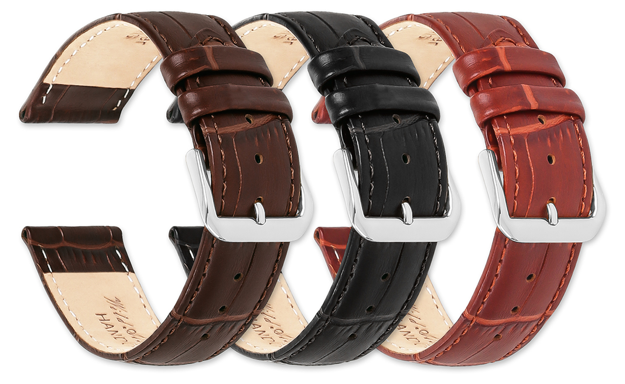 Watchstrap - Alligator Grain Padded with Nubuck Leather WH600/7