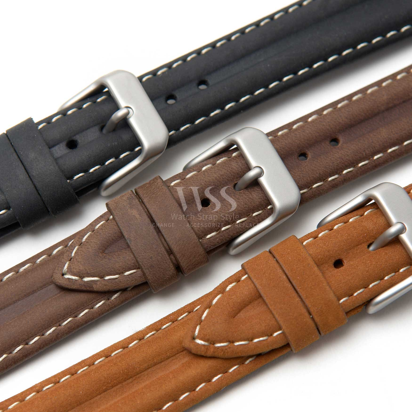 Watchstrap - Water Resistant Double Ridge Premium Leather WR913-17