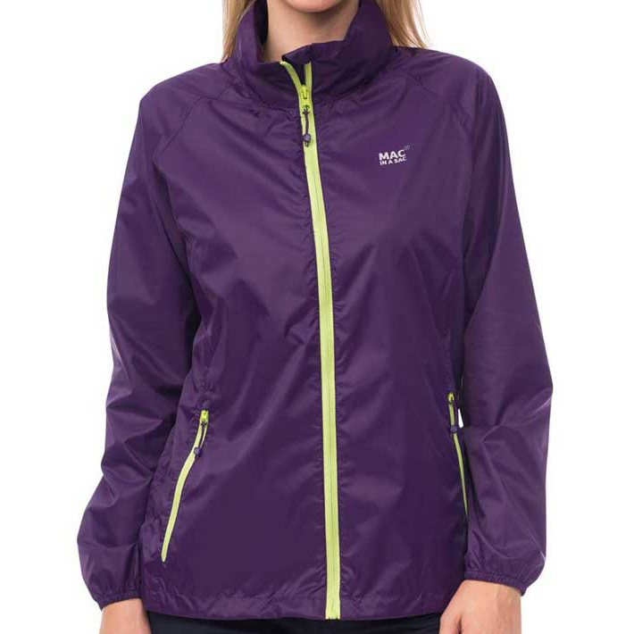 Mac in a Sac Unisex MIAS ORIGIN Highly Waterproof & Breathable Packaway Jacket PURPLE GRAPE