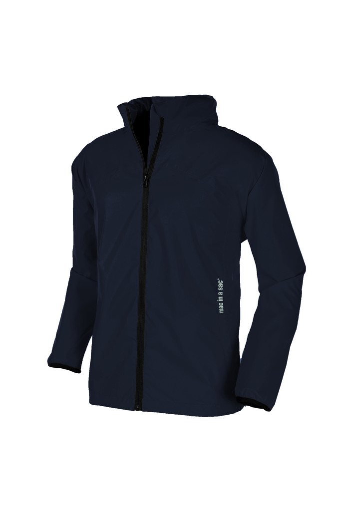 Mac in a Sac Unisex MIAS ORIGIN Highly Waterproof & Breathable Packaway Jacket DARK NAVY BLUE