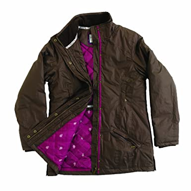 Tayberry Jane Ladies Dry Wax Jacket Chocolate Size 18 XL